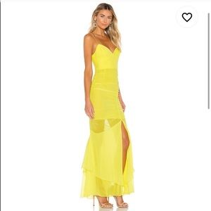 Nicholas | Drawstring Dress in Flourescent Lime